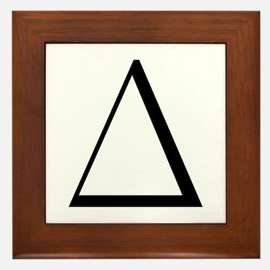 Greek Letter Delta Framed Tile