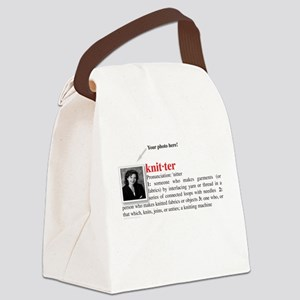 knitter_definition Canvas Lunch Bag