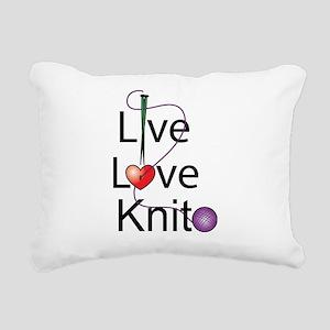 live_love_knit.png Rectangular Canvas Pillow