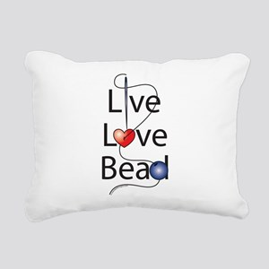 live_love_bead_ Rectangular Canvas Pillow