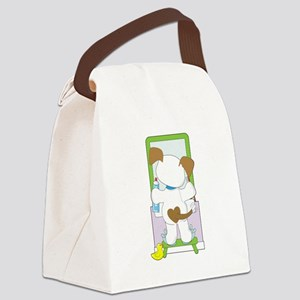 Cute Puppy Bathroom Canvas Lunch Bag