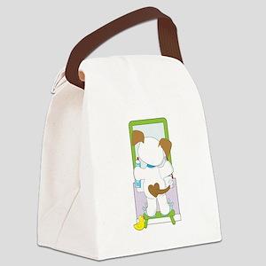 Cute Puppy Bathroom Canvas Lunch Bag