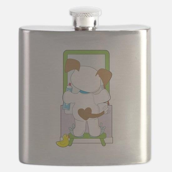 Cute Puppy Bathroom Flask