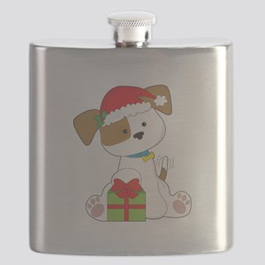 Christmas Puppy Flask