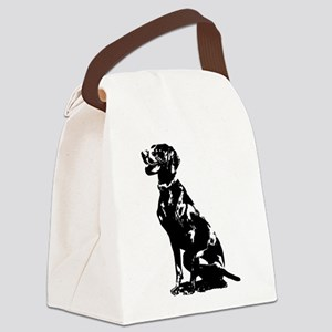 German Pointer Silhouette Canvas Lunch Bag