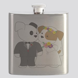 Cute Puppy Marriage Flask