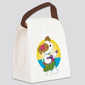 Cute Puppy Hawaii Canvas Lunch Bag