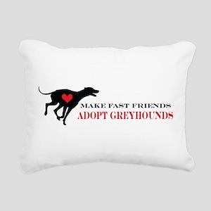 greyhound friend Rectangular Canvas Pillow