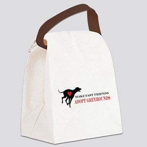 greyhound friend Canvas Lunch Bag