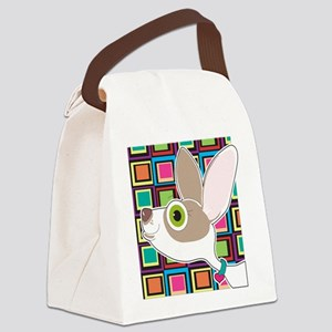 Chihuahua Portrait Canvas Lunch Bag