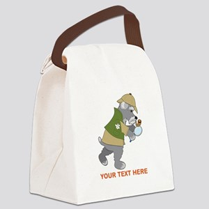 Schnauzer Detective Canvas Lunch Bag