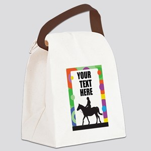 Horse Border Canvas Lunch Bag