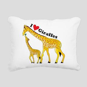 giraffe and baby cp Rectangular Canvas Pillow