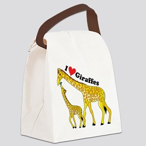 giraffe and baby cp Canvas Lunch Bag