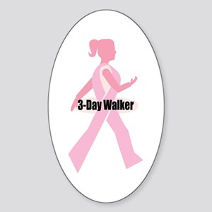 3-Day Walker Oval Sticker