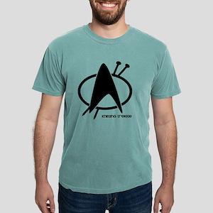 knitting trekkie black.p Mens Comfort Colors Shirt