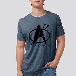 knitting trekkie black Mens Tri-blend T-Shirt
