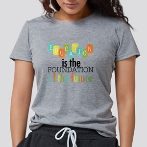 Education is the Foundati Womens Tri-blend T-Shirt