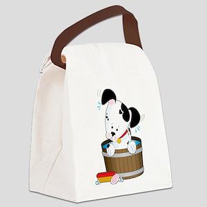 Doggie Bath Canvas Lunch Bag