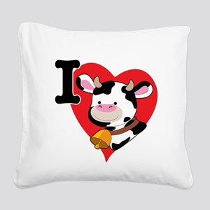 cow heart 200 Square Canvas Pillow