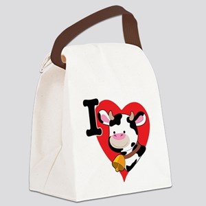 cow heart 200.png Canvas Lunch Bag