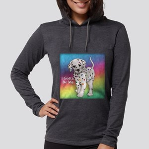 I Gotta Be Me dalmatian Womens Hooded Shirt