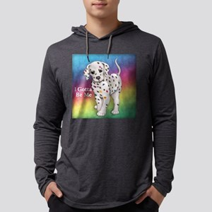I Gotta Be Me dalmatian Mens Hooded Shirt