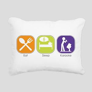 eat_sleep_karaoke Rectangular Canvas Pillow