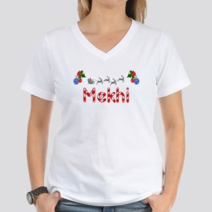 Mekhi, Christmas Women's V-Neck T-Shirt