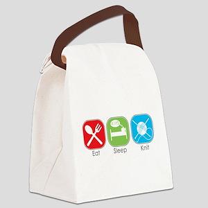 Eat Sleep Knit Canvas Lunch Bag
