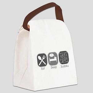 Eat Sleep Sudoku Canvas Lunch Bag