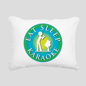 eat_sleep2_karaoke Rectangular Canvas Pillow
