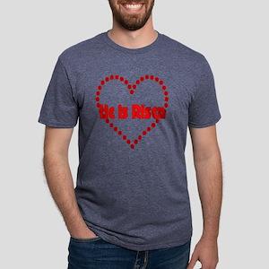 heisrisendottedheart Mens Tri-blend T-Shirt