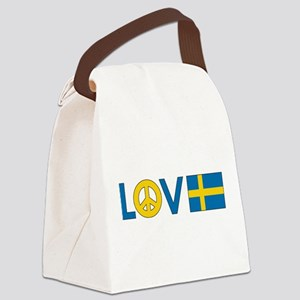 love peace sweden Canvas Lunch Bag