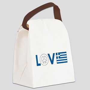 love peace greece  Canvas Lunch Bag