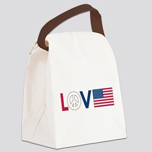 love peace america Canvas Lunch Bag