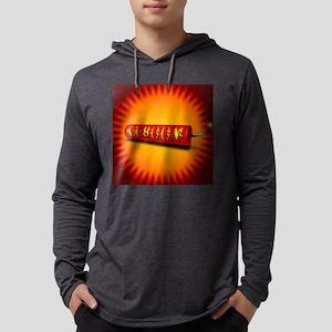 KA-BOOM button Mens Hooded Shirt