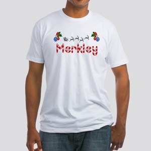 Merkley, Christmas Fitted T-Shirt