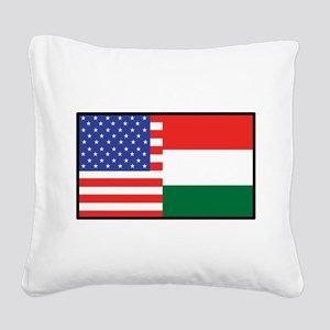 america_hungary Square Canvas Pillow