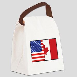 america_canada Canvas Lunch Bag