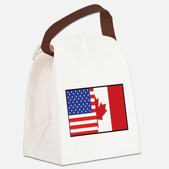 america_canada.jpg Canvas Lunch Bag