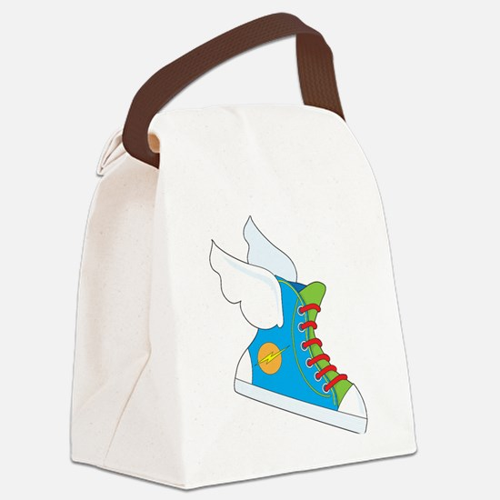 Flying Sneaker Canvas Lunch Bag
