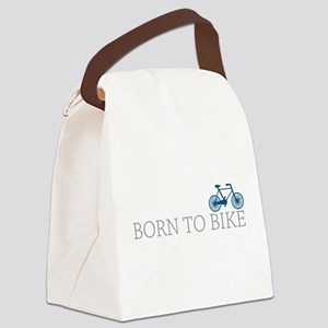 born to bike Canvas Lunch Bag