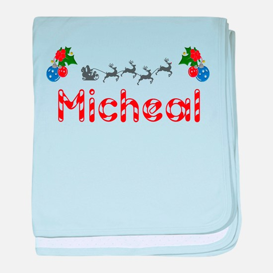 Micheal, Christmas baby blanket