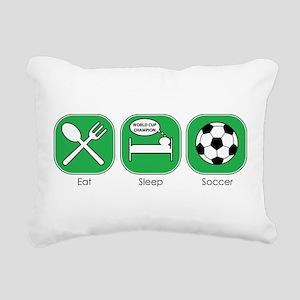 eat_sleep_soccer Rectangular Canvas Pillow