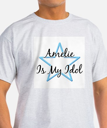 AMELIE IS MY IDOL Ash Grey T-Shirt
