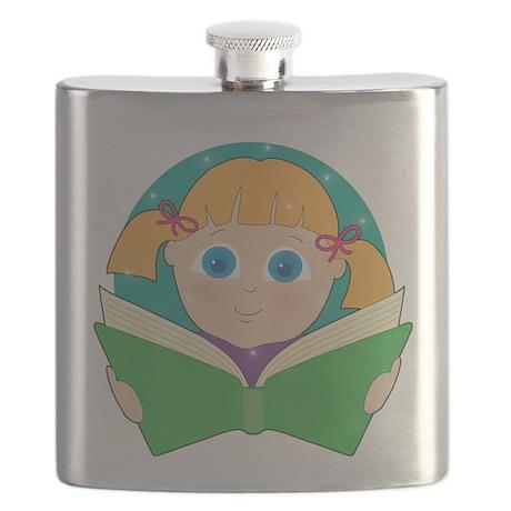 Child Reading Flask