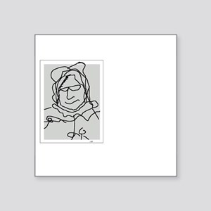 """Old Lady Square Sticker 3"""" x 3"""""""