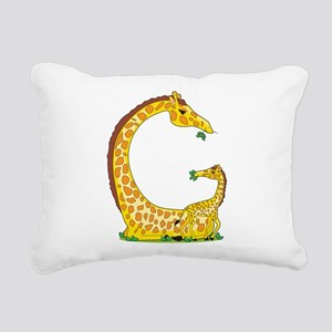 animal alphabet Giraffe Rectangular Canvas Pillow
