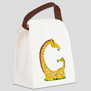 animal alphabet Giraffe Canvas Lunch Bag